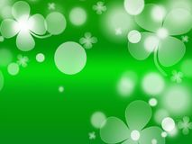 St. Patrick`s Day celebration greeting card. Beautiful St. Patrick`s Day celebration greeting card stock image