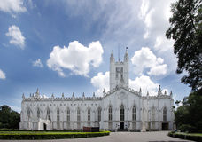 Beautiful St. Paul's Cathedral of Kolkata Stock Photo