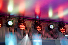 Beautiful stage lighting Stock Image