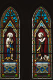 Beautiful stained glass decorations at the Catholic Church, Thailand Stock Photo