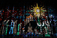 Beautiful Stained glass Royalty Free Stock Photography