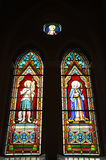 Beautiful stained glass window in the Church Royalty Free Stock Photos