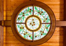 Beautiful stained window Stock Photography