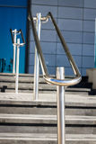 Beautiful stainless steel railings Stock Images