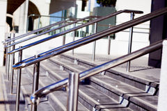 Beautiful stainless steel railings Stock Photography