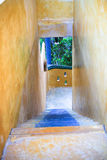 Beautiful stair channel. Beautiful light color old stair channel Stock Photography