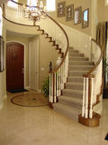 Beautiful Staircase with Mosaic Floor Royalty Free Stock Photo