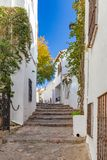 Beautiful stairs detail in a small resort village Calella de Palafrugell in Costa Brava of Spain.  Stock Image