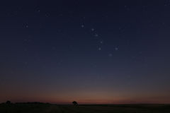 Beautiful Star Field at sunset Stock Photography