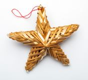 Beautiful star made from vegetable fibers stock illustration