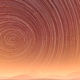Beautiful star trail image during at night in desert Royalty Free Stock Photos