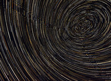 Beautiful star trail image during at night Royalty Free Stock Image