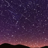 Beautiful star trail image during at night Royalty Free Stock Images