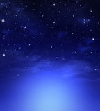 Beautiful starry sky Stock Image