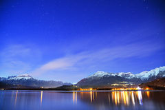 Starry night and lake Royalty Free Stock Image