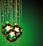 Beautiful stars christmas balls. Stock Photos