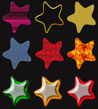Beautiful stars isolated Royalty Free Stock Image