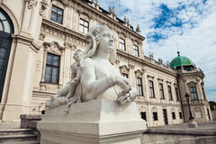 Beautiful statue at Belvedere castle in Vienna, Austria Royalty Free Stock Photo