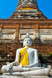 Beautiful statue of Buddhas in temple Wat Yai Chai Mongkol Stock Image