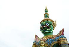 Beautiful statue of the green Giant at Wat Arun. bangkok. thailand. Statue of the green Giant at Wat Arun. bangkok. thailand Stock Photography