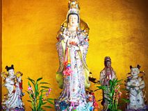 A Beautiful Statue of Guan Yin Goddess stock photo