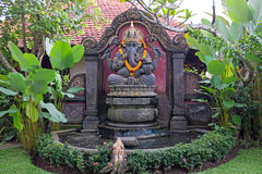 Beautiful statue from Hanuman in a garden on Bali Indonesia Stock Photo