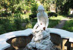 Beautiful statue in the pool park, Odessa Royalty Free Stock Photos