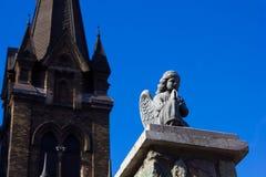 Beautiful statue of a praying angel Stock Photography