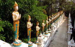 Beautiful statues in asian pagoda garden Royalty Free Stock Photo