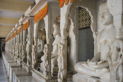 Beautiful statues of Budda Buddah carved from marble stone Royalty Free Stock Images