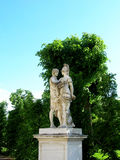 Beautiful statues in the garden of the lower Belvedere Palace. Stock Images