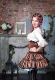 Beautiful steampunk woman Stock Photo