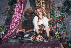 Beautiful steampunk woman Royalty Free Stock Photography