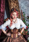 Beautiful steampunk woman Stock Photography