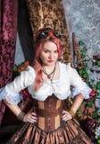 Beautiful steampunk woman stock photography
