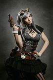 Beautiful steampunk woman portrait Stock Image