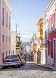Beautiful steep street in old San Juan, Puerto Rico. Beautiful steep street in old San Juan stock photography