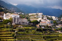 Beautiful steep village of Ravello Royalty Free Stock Photography