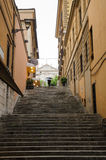 Beautiful steps in Rome, Italy Royalty Free Stock Image