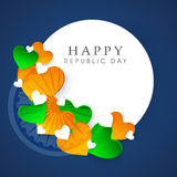 Beautiful sticky design for Happy Indian Republic Day. Stock Image