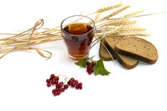 Beautiful still life on cereals and drinks Stock Photos