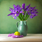 Beautiful still life with iris flower Royalty Free Stock Photo