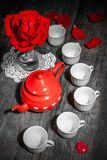 Beautiful still life with rose tea Royalty Free Stock Image