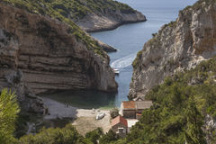 Beautiful Stiniva bay Stock Image