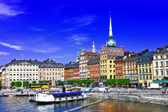 Beautiful Stockholm, Sweeden Stock Photos