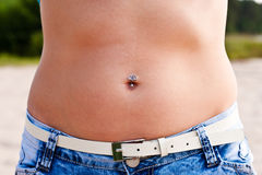 Beautiful stomach Stock Image