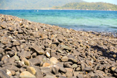 Beautiful stone beach. The beautiful stone beach in Li-Pae island south of Thailand stock photo