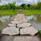The beautiful stone bridge stock photos