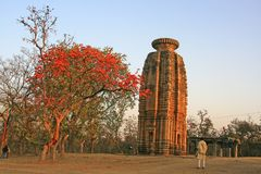 Beautiful stone carved temple in Purulia, West Bengal, India stock image