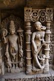 Beautiful stone carving at Rani ki vav Royalty Free Stock Images